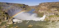Aerial View Color Rendering Shoshone Falls Idaho Generating Rainbow
