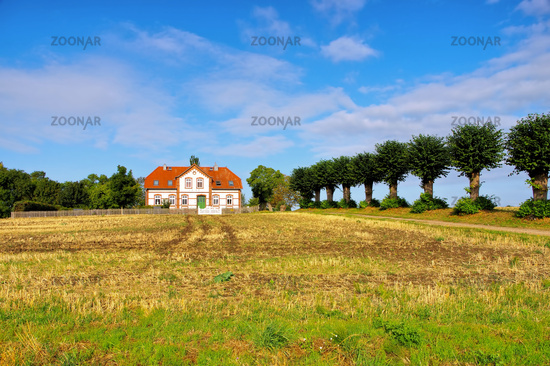 Poel Einhusen - an old villa with a lime tree avenue on the island of Poel in Germany