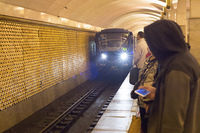 subway train metro station Russia