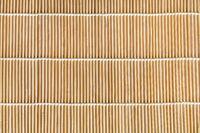wooden mat made from linden wood sticks