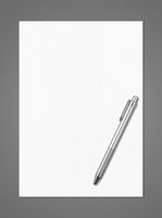 Blank White A4 paper sheet and pen mockup template