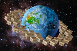Planet earth and box free shipping