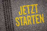 Lane with the  German Translation of Start now - Jetzt starten