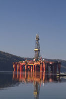 Oil rig in Lyngdalsfjord in Norway