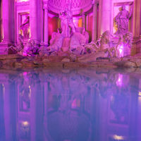 Fountains outside Caesar's Palace in Las Vegas Nevada. Ceasar's is a famous hotel on the Strip
