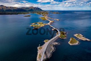 Atlantic Ocean Road aerial photography.
