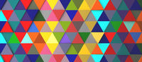 Abstract modern colorful triangle background