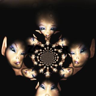 Digital Illustration of an Alien
