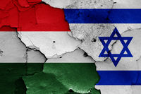 flags of Hungary and Israel