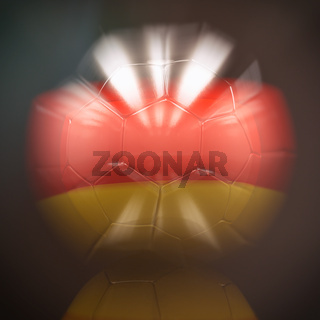 3d Soccer Ball with Germany Flag Illustration