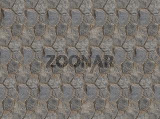 Background base folded hexagonal stones tiles wall fragment square symmetrical texture