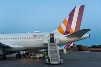 Berlin, Germany, Germanwings passenger plane at Tegel Airport