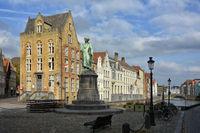 Bruges Belgium Jan-van-Eyck-Place