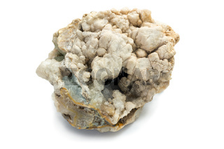 Concretion of minerals with small cavities inside