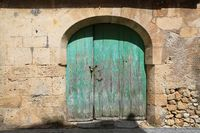 Old antique vintage wooden door, Mallorca, Spain