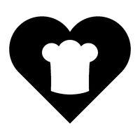 Kochhaube und Herz - Chef hat and heart