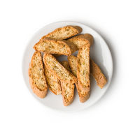 Sweet cantuccini biscuits. Italian biscotti.
