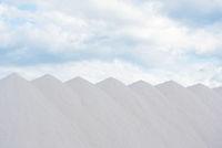 heap of sea salt under sthe sky