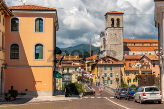 Cividale del Friuli, Italy: View of the old city center with traditional architecture