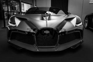 A sports car Bugatti Divo, 2018.