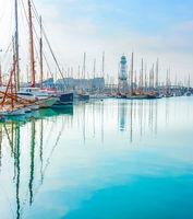 Yachts and sailboats, Barcelona marina