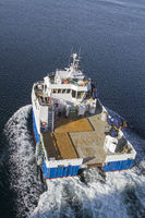 Ship on the Naeroysundet