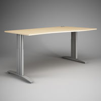 Comfortable Desk for the office. 3D visualization.