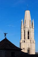 Church of Sant Feliu Tower in Girona