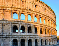 Colosseum at morning in Rome