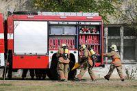 Fire truck firefighters