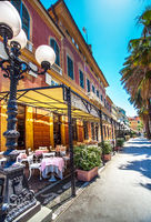 The city center of Sestri Levante Liguria Italy