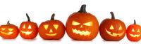 Halloween Pumpkins on white
