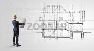 Architect looking to a house plan