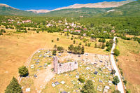 Historic church of Holy Salvation ruins in Cetina