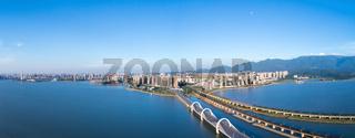 beautiful jiujiang cityscape panorama