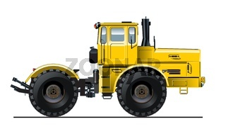 Detailed Tractor illustration
