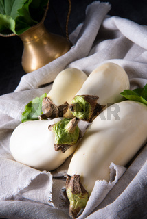 Eggplant (Solanum melongena) is a species in the nightshade family (Solanaceae) grown for its edible fruit.