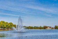 Fountain on the Pfaffen pond