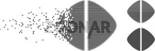 Dispersed Pixel Halftone Medical Tablet Icon