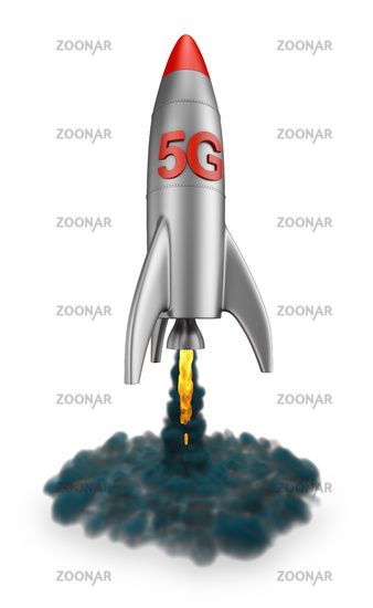 5G rocket flies up