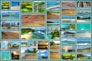Mauritius landscapes collage