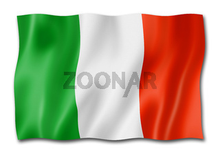 Italian flag isolated on white