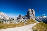 Hiking around the Cinque Torri in the Dolomites of Northern Italy