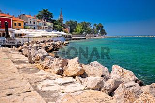 Novigrad Istarski idyllic coastline and town waterfront view