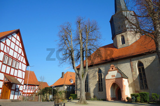 Die historische alte Stadt schlitz