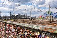 Love lock bridge in Cologne