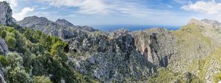Mallorca Aussichtspunkt Serra de Tramuntana, Majorca Viewpoint Serra de Tramuntana - Panorama