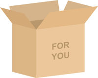 For You Open Gift Box Vector