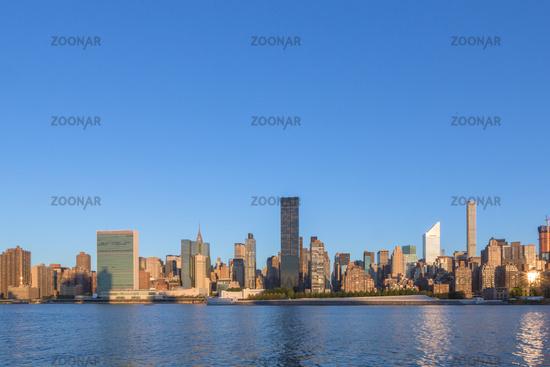 skyline of new york