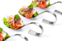 Appetizers with anchovy fillets